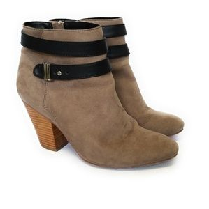 EXPRESS Tissu Ankle Booties Heels Boots Size 8.5